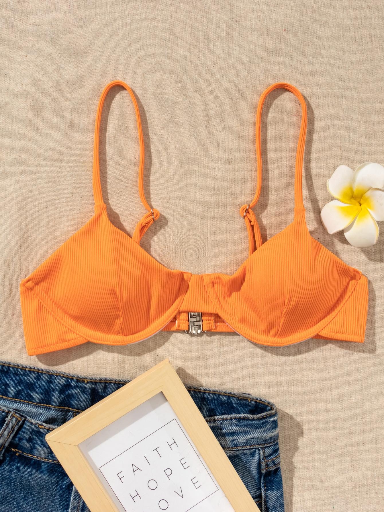Top bikini con aro de canalé