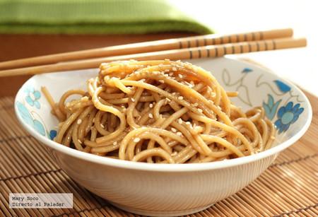 Espagueti Sesamo
