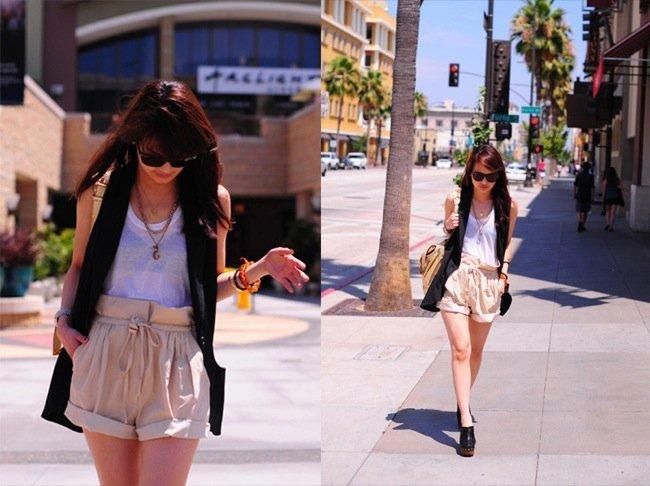 Frente al calor, unos shorts cortos como las mejores streetstylers: para el trabajo o el día a día. Trabajar IV
