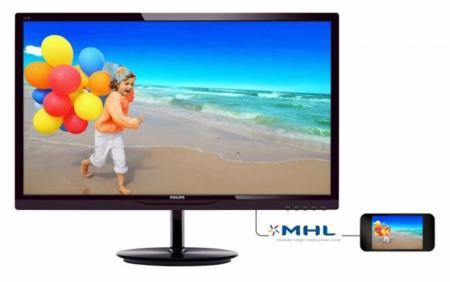 Philips 284E5QHAD, monitor de 28 pulgadas con conexiones HDMI, MHL y VGA