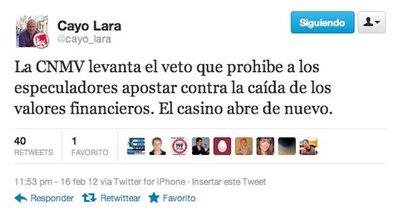El casino financiero de la bolsa, abre de nuevo; según Cayo Lara