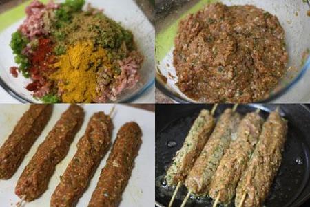 Hacer kebab de cordero