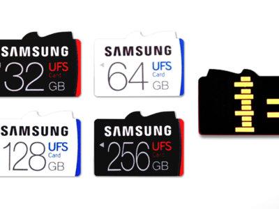 Samsung presenta las primeras tarjetas de memoria con tecnología UFS: increíblemente rápidas, hasta 256GB