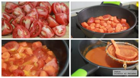 Crema De Tomate Zanahoria Y Jengibre