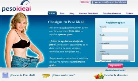 Peso ideal: una web para ayudarte a adelgazar
