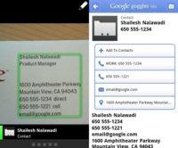 Google Goggles 1.4 para Android te ayuda a organizar tus contactos