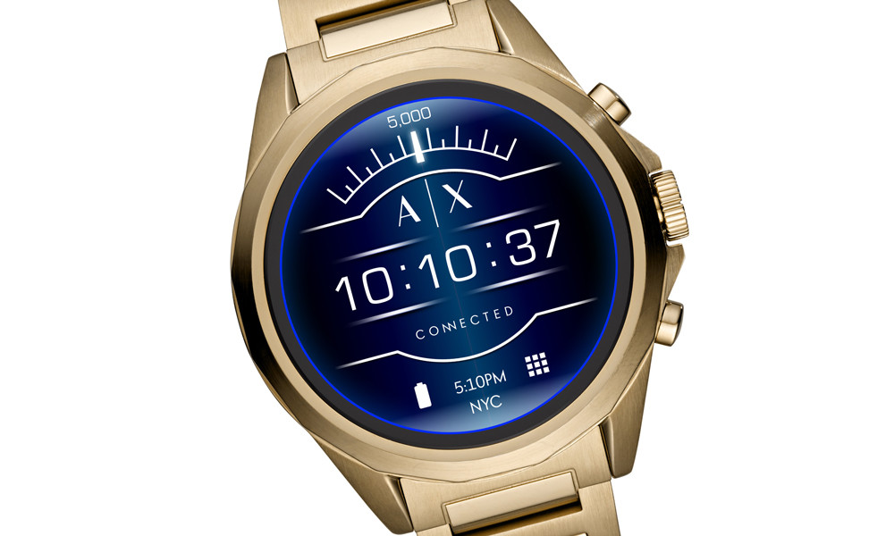 Armani Exchange Connected, el primer smartwatch táctil de la marca es Wear OS, tiene Google™ Pay y es sumergible