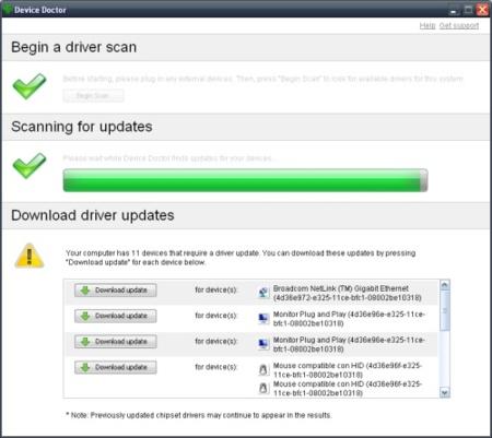 Actualiza tus drivers automáticamente con Device Doctor