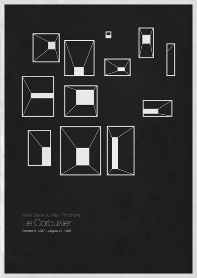 Foto de Six Architects, pósters minimalistas de grandes arquitectos (2/6)