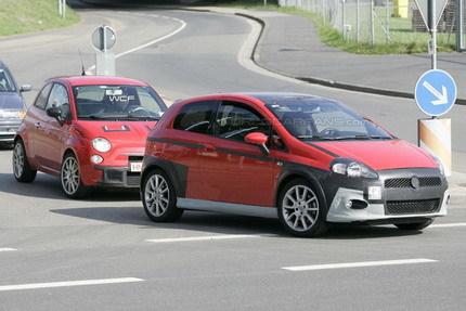 Fotos espía del Fiat 500 Abarth y Grande Punto Abarth
