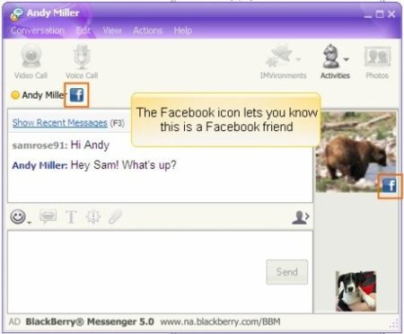 Chat de Facebook en Yahoo Messenger