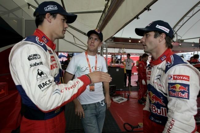 Matthew Wilson disputando el Rally de Montecarlo de 2012