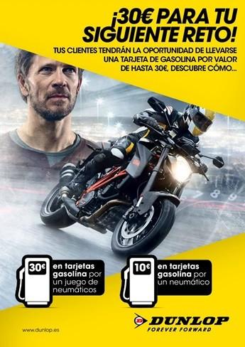Dunlop te regala hasta 30 € de carburante por la compra de un juego de neumáticos