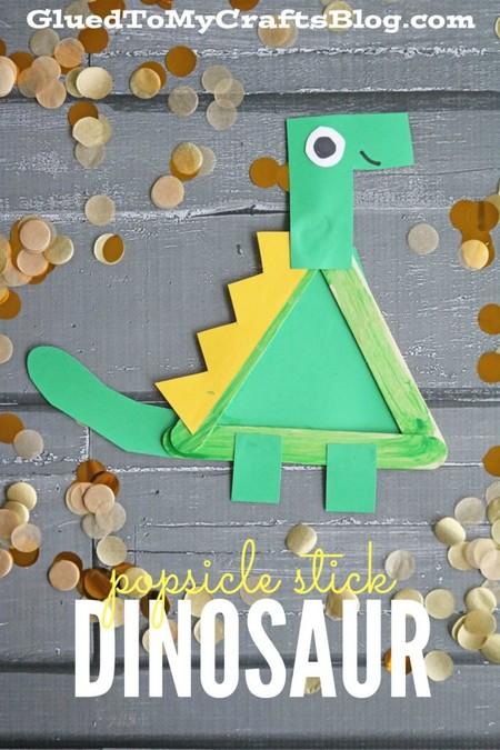 Manualidades Dinosaurios Palitos