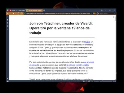 Llega Vivaldi 1.11 con un modo de lectura avanzado, control sobre la reproducción de GIFs, y nuevo icono