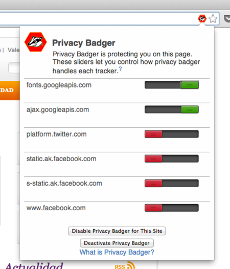 privacy badger eff lista cookies