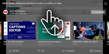 Youtube Gesto Acciones Recomendaciones