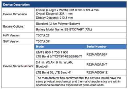 Galaxy Tab A4s FCC