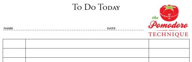 Pomodoro To Do Today