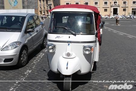 Moto carro en el Vaticano