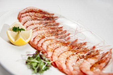Gambas de Huelva a la plancha - Restaurante Materia Prima Madrid