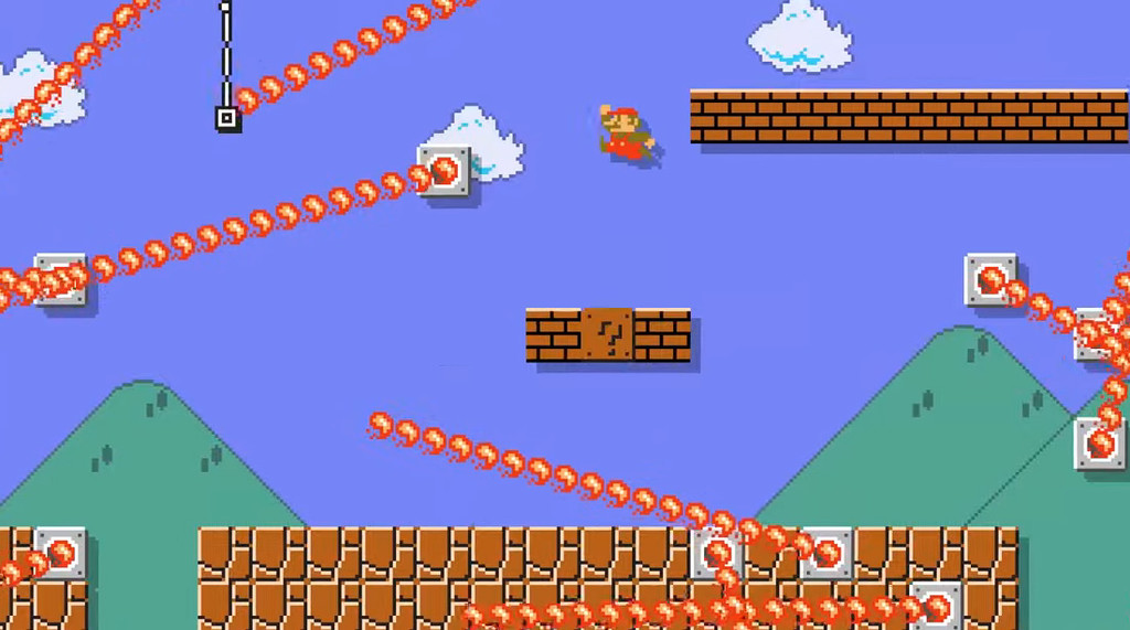El primer nivel de Super Mario Bros. es recreado en Super Mario Maker 2 con una versión de lo más infernal
