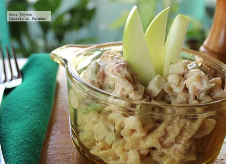 Receta: Tornillos con atún y manzana verde