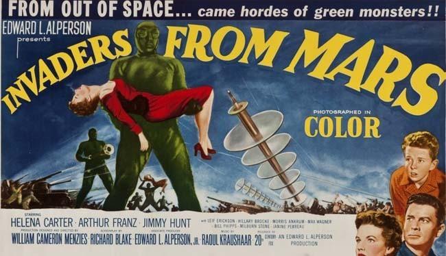 Invasores de marte 1953 cartel