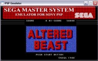 Emulador de MasterSystem para PSP