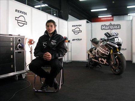 Las primeras sensaciones de Marc Márquez en Moto2