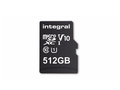 Integral crea la tarjeta microSD de 512GB, es la de mayor capacidad del mundo pero no la más veloz