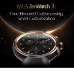 Asus ZenWatch 3, diseño clásico y aspecto impresionante para el nuevo reloj inteligente de Asus