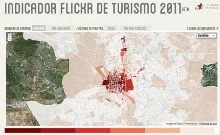 Flickr Tourism Indicator 2011, una curiosa mezcla de estadística y la API de Flickr