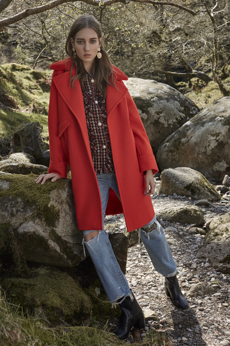 Red Coat Gbp40 Eur45 Tweed Coat Gbp25 Eur30 Jeans Gbp19 Eur23 Boots Gbp16 Eur19 Earrings Gbp2 Eur4