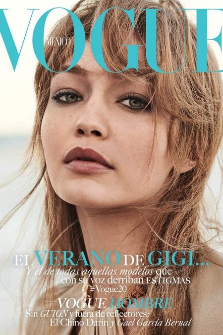 Gigi Hadid sorprende a sus fans con flequillo en su última portada en Vogue México (y nos encanta)
