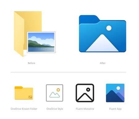 Microsoft Actualizacion Windows 10 Nuevos Iconos Explorador Archivos Carpeta