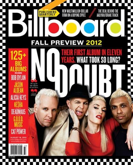 Gwen Stefani y sus chicos se quedan con la portada de Billboard