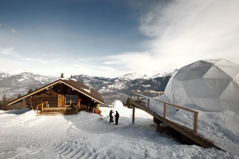 Un resort de iglús en Suiza