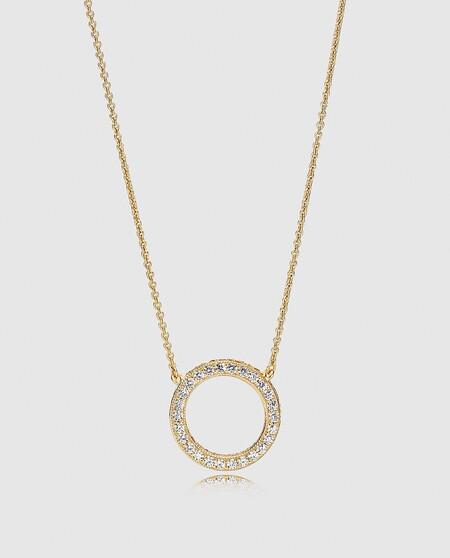 Collar De Plata Y Circonitas Shine Corazones Pandora
