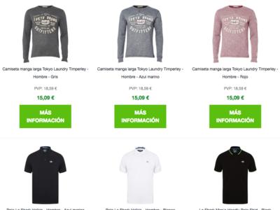 Compra múltiple en Zavvi: 3 prendas por 35 euros o 5 prendas por 58 euros