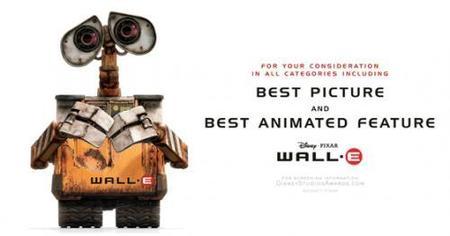 Wall-E lo tendrá difícil para el Oscar a la mejor película