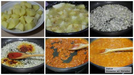 Resultat d'imatges de ingredientes para las patatas bravas