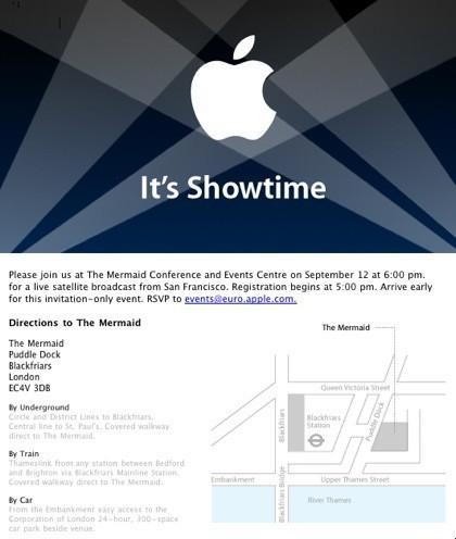 Confirmado: Evento Apple para el Martes 12 de Septiembre
