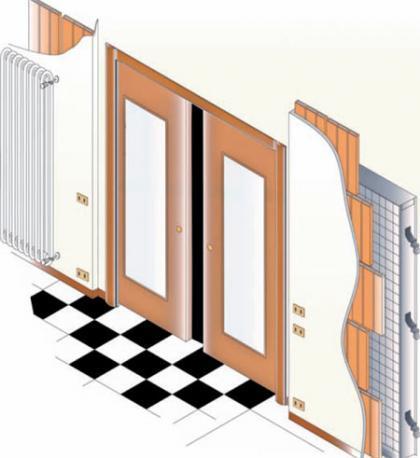 C mo colocar interruptores en las puertas correderas tres - Mecanismos de puertas correderas ...