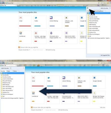 FAIL en los favoritos de Internet Explorer 9