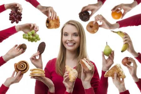 diferentes opciones de alimentos