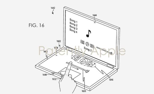 Patente Teclado Pantalla Apple