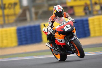 Pedrosa logra la pole en Le Mans
