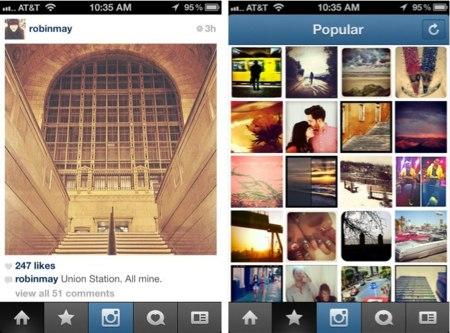 La nueva actualización de Instagram modifica su interfaz y se cubre las espaldas tras el incidente de Path