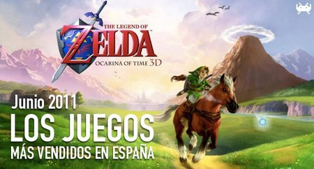 Los juegos más vendidos en España. Junio 2011
